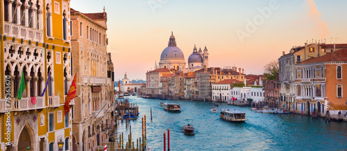 Canvas Prints Venice Grand Canal in Venice, Italy.