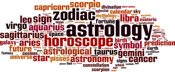 Astrology word cloud concept. Vector illustration