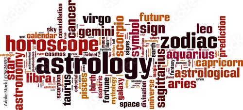 Astrology word cloud concept. Vector illustration Wallpaper Mural