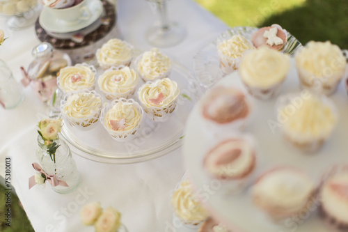 Poster Dairy products Cupcakes