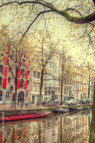 Photo  Amsterdam autumn. beautiful places in Europe