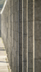 concrete construction with lines and angles