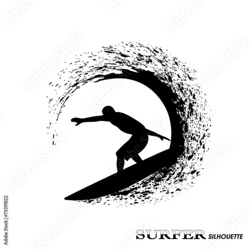 surfer on waves an illustration on a white background #75391822