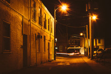 Alley At Night, In Hanover, Pe...