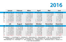 Kalender 2016 Visitenkartenfor...