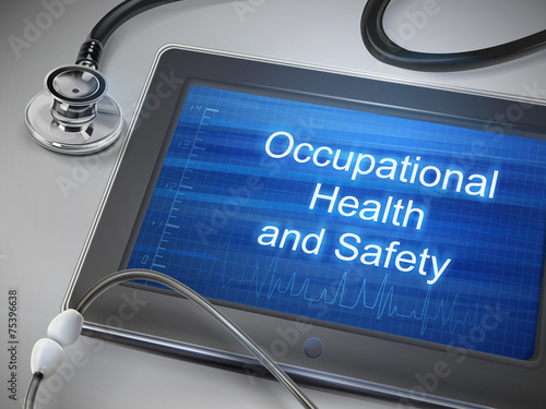Fotografie, Obraz  occupational health and safety words displayed on tablet