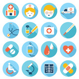 Flat icons set : Health care, Medical Object