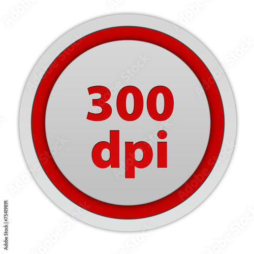 Valokuva  300 dpi circular icon on white background