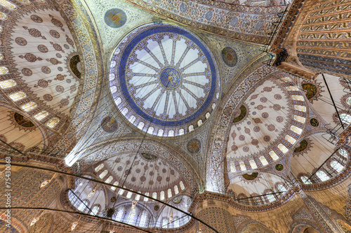 Photo  Blue Mosque Interior - Istanbul, Turkey
