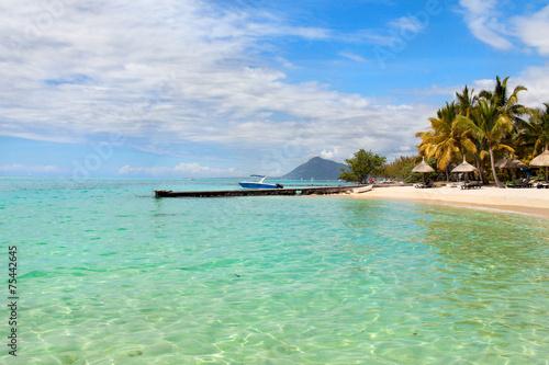 Staande foto Eiland Mauritius island