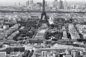 FototapetaParis, Eiffel Tower - black and white image