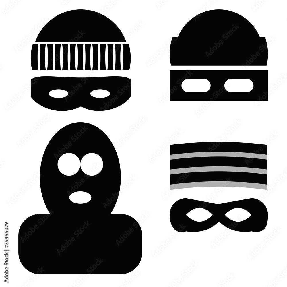 Fototapeta thief icons