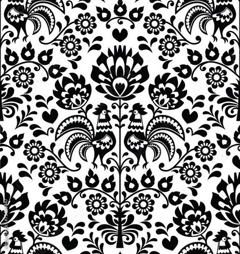 seamless-floral-polish-folk-pattern-wycinanki-wzory-lowickie