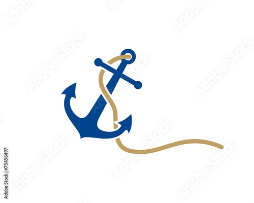 anchor logo template Fotobehang