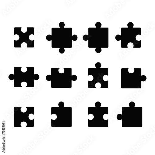 Fotografie, Obraz  Jigsaw icon