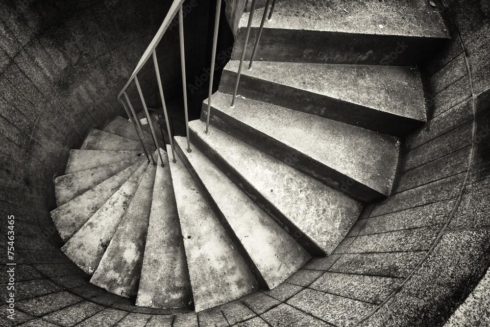 Fototapeta spiral staircase