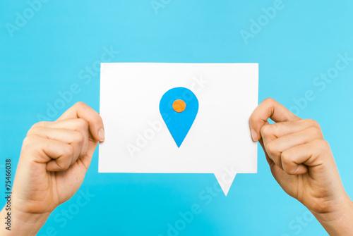 Fotografía  Geographic location concept