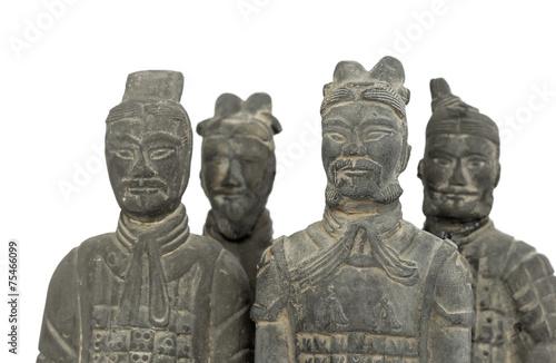 Foto op Plexiglas Xian Terra cotta warriors, isolated