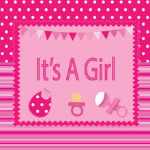 It's A Girl Baby Shower Poster