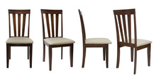 4 Angle Wooden Chair  Isolated...