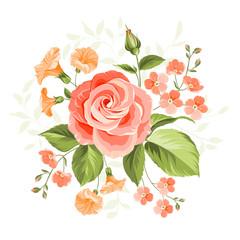 Panel Szklany Róże Pink rose.