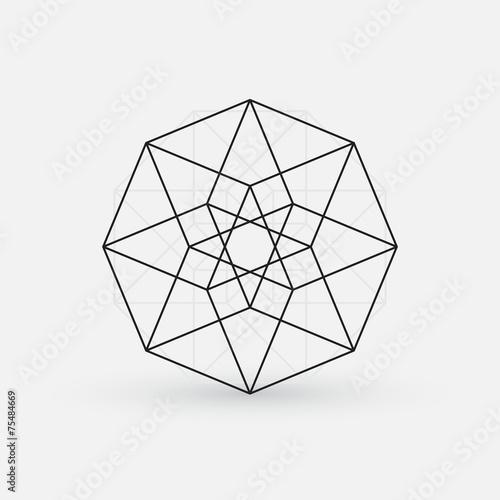 Fényképezés  Geometric element, line design, star shape