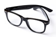 canvas print picture - Eyeglasses with black rim