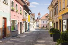 Main Street In Kranj, Slovenia