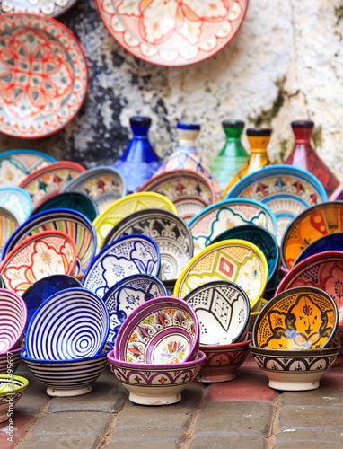Papiers peints Maroc Traditional ceramic pottery in Morocco