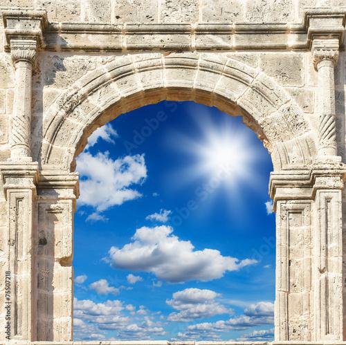 Obraz na płótnie arch in the fortress