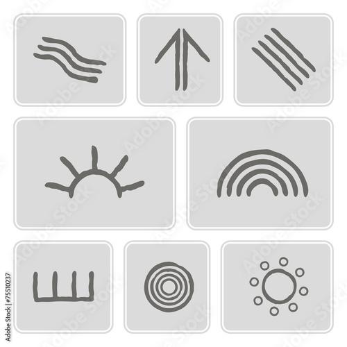 Set Of Icons With Symbols Of Australian Aboriginal Art Buy This