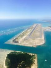 Aerial View Of The Reef Runway At Honolulu International Airport