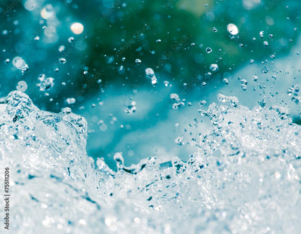 Fototapeta background of stormy water splashes
