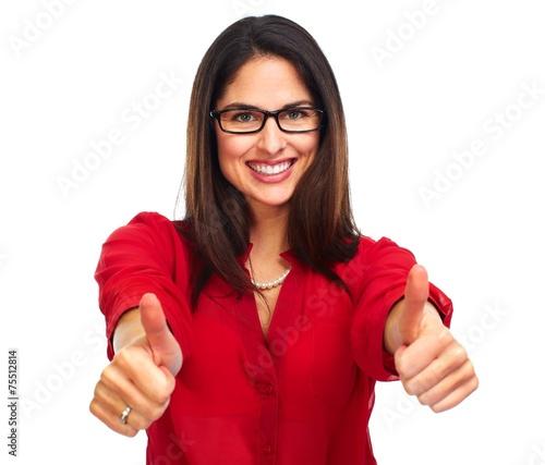 Valokuva  Happy business woman.