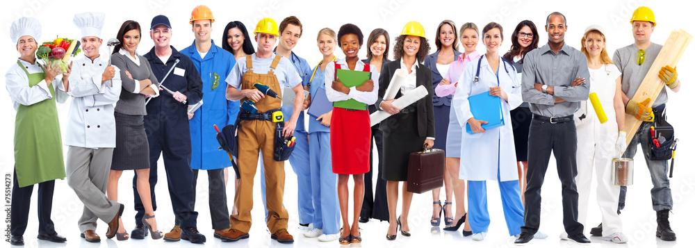 Fototapeta Business people workers group.