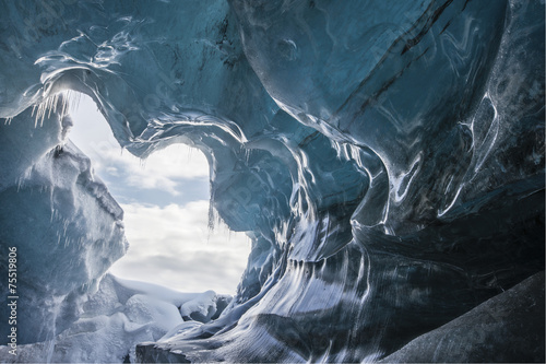 Printed kitchen splashbacks Glaciers Glacial Cave