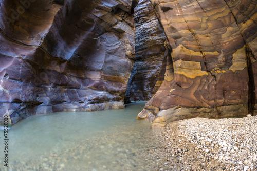 Fotografie, Obraz  Grand Canyon of Jordan,Wadi al mujib Natural Reserve
