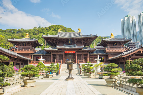 Spoed Foto op Canvas Hong-Kong Chi Lin Nunnery in Diamond Hill, Kowloon, Hong Kong.