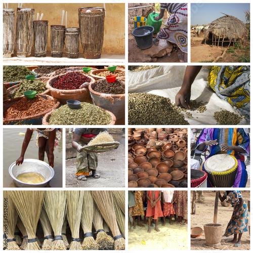 Staande foto Afrika Africa life collage