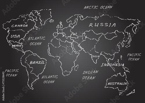 mapa-swiata-naszkicowac-ilustracji-wektorowych