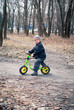 Boy on his first bike