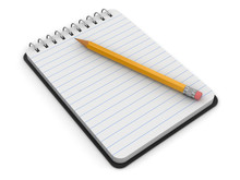Notepad And Pencil (clipping P...