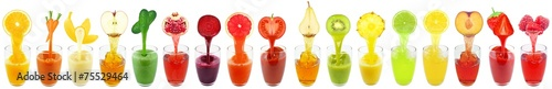 Poster Sap collage of fruit and vegetable juice