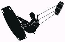 Kitesurfer Tubekite