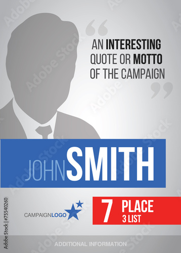 Presidential campaign poster template