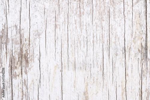 Grunge white wood. - 75542218