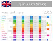 2016 English Planner Calendar ...