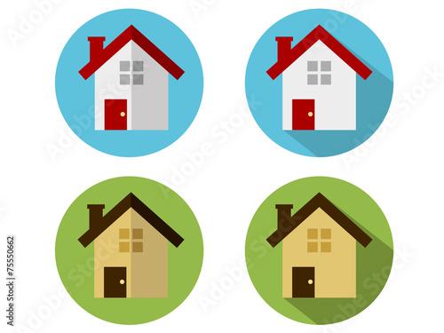 Fotobehang Indiërs Home Icons