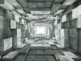 Fototapeta Perspektywa 3d - end of the tunnel