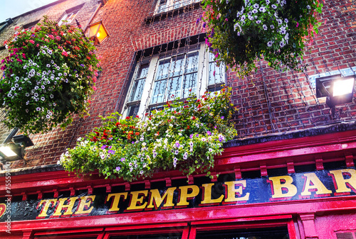 Canvas Print The Temple Bar – Dublin Irleand